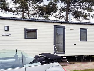 A high spec 'eco van' situated on Haven holiday park near Great Yarmouth.