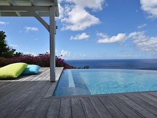 Superbe villa créole avec piscine et vue mer exceptionnelle - 6 pers.
