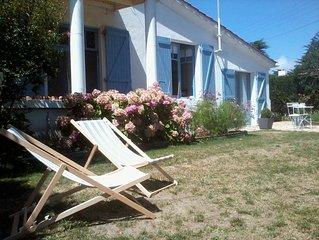 Maison de charme rénovée, St Gilles-Croix de Vie, 300m plage Boisvinet, jardin