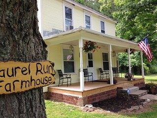 Laurel Run Cottage Located In Hocking Hills Ohio & Wayne National Park
