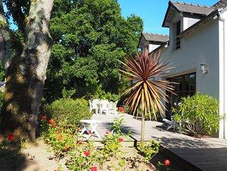 Clos des Bernaches Appart-maison 200m plage,  commerces, grd jardin calme wifi,