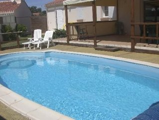 Villa 3* Les Sables D'Olonne  avec Piscine Chauffee 6 Personnes 3 chambres