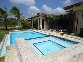 Casa Azul, directly on playa venao, best surfing in Panama, Sleeps 6-9+