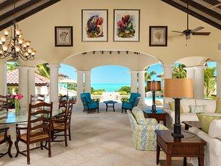 Luxurious Mediterranean Beach Front Villa located on Long Bay Beach