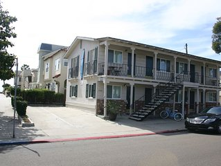 Adorable South Mission Studio7-Steps to Ocean & Bay, Walk 5min To Belmont Park7