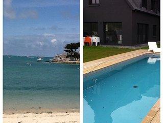Villa luxueuse avec piscine/380m2/30m de la plage