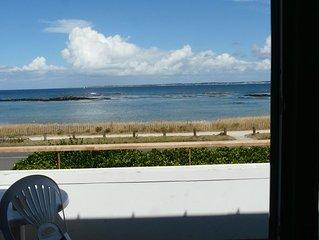L'Atlantique et la plage devant la maison.