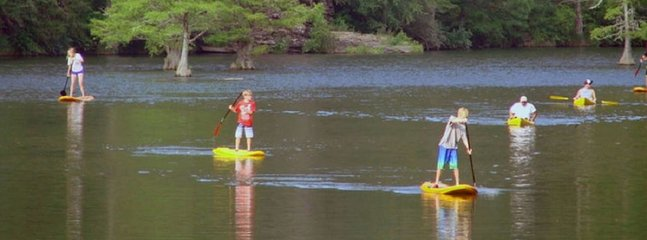 Enjoy Kayaking, swimming or tubing on the Mountain Fork River. Clear & Cool