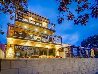 Modern Beach house steps to the beach & bayside