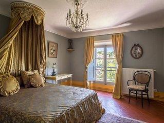 Chambre double 'Belle Epoque' au  Château (capacité 3)