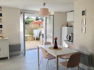 Appartement studio pour 2 à 8 personnes avec terrasse et jardin