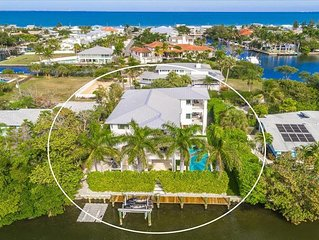 Spacious, luxury, canal front pool home in the center of Anna Maria city.