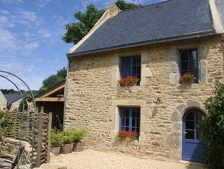 Maison de pecheur dans un village typique du golfe du Morbihan