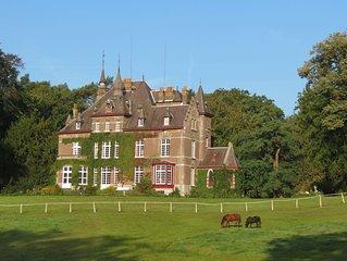 Gîte de charme avec SAUNA, 3ch, 3 sdb, dépendance de château, Villers-la-Ville,