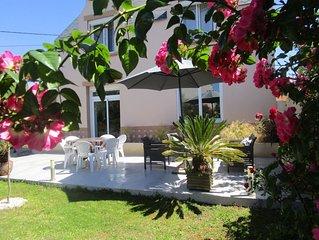 Maison proche de la plage de PORS CARN,classee 3 etoiles,jardin clos(animaux)