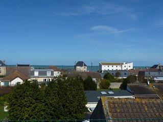 Appartement avec toit terrasse belle vue mer, plage du D-Day