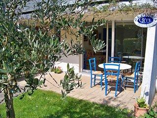 appartement rez-de-jardin à 25m de la plage accès direct
