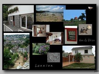 Belle maison dans un grand jardin arboré à Lannion