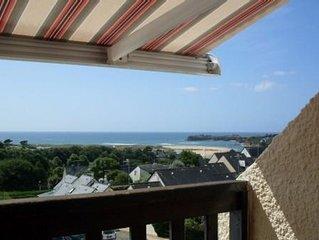 appartement -balcon avec vue panoramique sur la mer & piscine chauffee