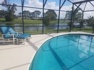3 BR/2 Bath Pool Home, Lake View near Disney