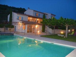 Luxueuse villa dans le Sud de la France, équipée de 3 suites et 1 studio