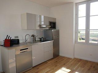 NOUVEAU: appartement  3p  4 pers 45m2 vue imprenable sur le havre de PORTBAIL