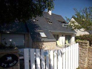 SARZEAU  maison 300m Plage- jardin/terrasse,WIFI, 6pers-Parking, Ecoledevoile