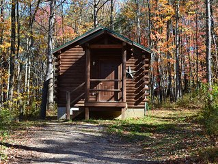 Comfy little couples cabin in the woods of Hocking Hills with a hot tub!