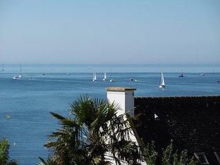 Appartement Duplex de charme 4 pers en bord de Mer a Benodet, piscine chauffee