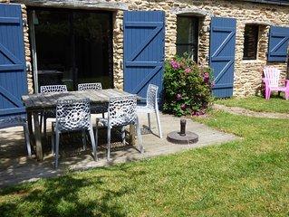 Ty Glaz- Maison de charme 4 à 6 pers  entre Golfe du Morbihan et plage de Suscin