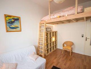 Appartement avec mezzanine au coeur de la vie lorientaise avec parking