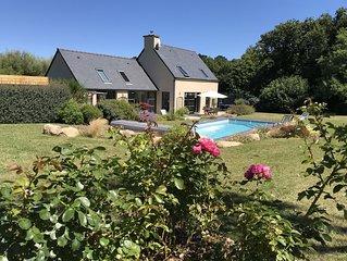 3' des plages - piscine chauffee - Port-Blanc - Cote de Granit Rose