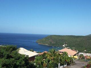 Villa neuve avec piscine et vue mer des Caraïbes