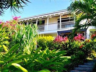 Appartements dans belle villa creole avec jardin et piscine pres plage Vauclin