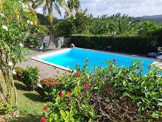 ''la palmeraie'' villa martinique avec piscine privee