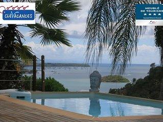 La charmante Villa Coco ****  et son bungalow avec magnifique vue sur mer