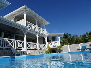 Chambre d hôtes avec une vue panoramique sur la mer des Caraïbes