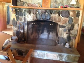 Beautiful cottage on Boyden Lake  with working stone fireplace.