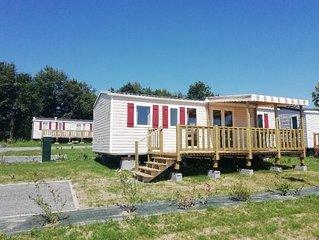 Mobil-Home sur camping ****Domaine de Litteau, Basse Normandie (6/8 personnes)