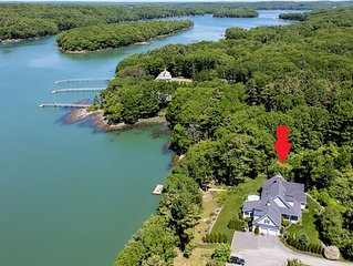 Elegant New England Charm on the Back River – 2,900 Sq. Ft. 3BR Retreat