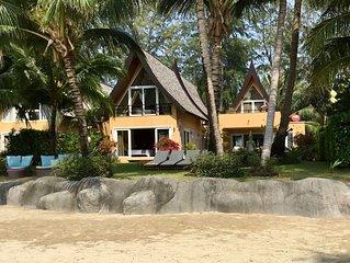 Exceptionnelle villa de 5 chambres au bord d'une plage de sable fin