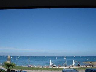 Magnifique appartement duplex situé à Port Haliguen, face à la mer, la plage