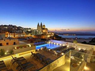 Ferienwohnung Standart 2 BDR Seas view pergola  in Mellieha, Malta - 7 Personen,