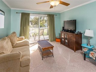 Condominium in St. Simons Island Village Area. Pool, Tennis, Fitness Center and