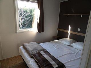 Camping Des Cerisiers - Mobilhome 6 Personnes - 2 Chambres (entre 0 Et 5 Ans)