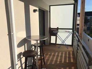 Appartement neuf, 150m plage du Val et du centre de Rothéneuf