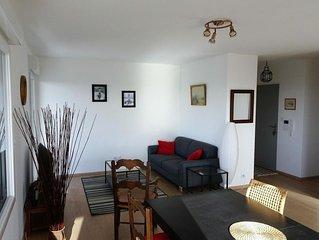 Appart 85m2 + balcon 12m2 / Vue sur mer / 2 chambres / garage