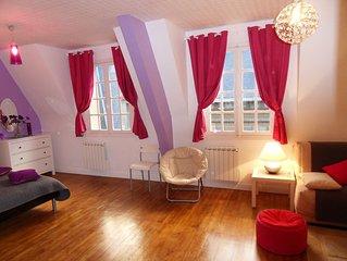 Saint-Malo IntraMuros – Grand Studio 42m2 - 4pers - ASCENSEUR 5eme etage Sud