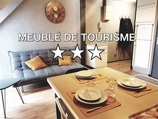 Appartement cosy classé 3*** Lorient avec parking privé