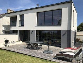 Maison contemporaine 8 personnes proche plage et ile Callot